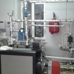 Установка дизельного котла для действующего отопления.